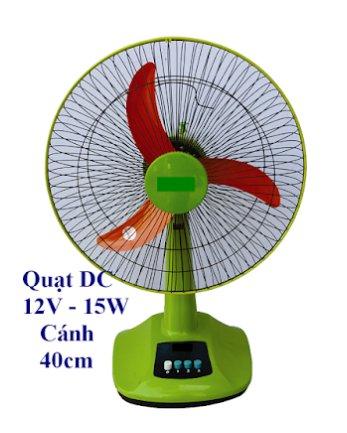 Quạt hộp để bàn 12v dùng điện năng lượng mặt trời / ắcquy
